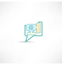 email sign on computer vector image