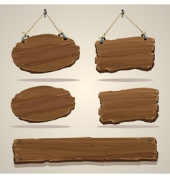 Wood board on the rope vector