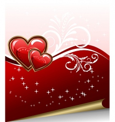 Romantic elegance background with heart vector