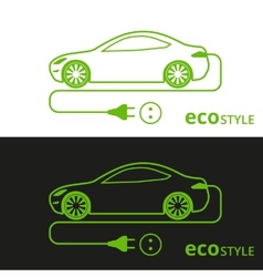 Eco style car vector