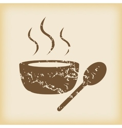 Grungy hot soup icon vector