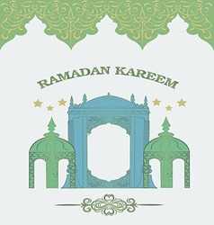 Ramadan kareem wishes vector