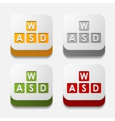 Square button keypad vector
