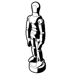 art mannequin vector image