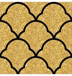 Floral golden wallpaper vector