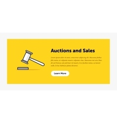 Auction hammer Announcement about vector image vector image