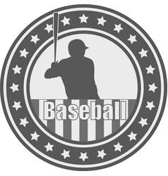 Baseball emblem - vector