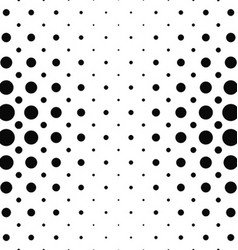 Black and white dot pattern background vector