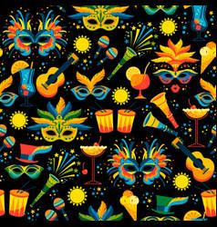 Brazilian carnival seamless pattern vector