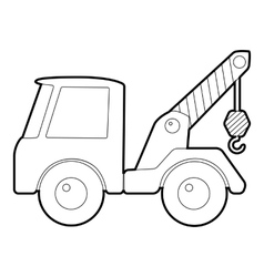 Car towing truck icon isometric 3d style vector