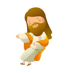 Close-up of Jesus Christ smiling vector image vector image