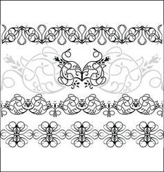 fantasy borders set vector image vector image