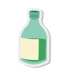 glass bottle icon vector image