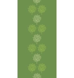 Green trees stripes vertical seamless pattern vector