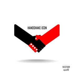 Handshake abstract sign design vector
