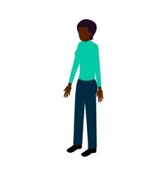 Isometric black woman vector