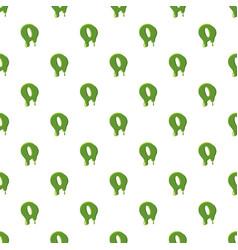 Letter o made of green slime vector