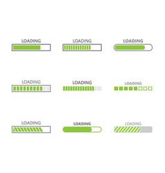 loading bar progress icons vector image vector image