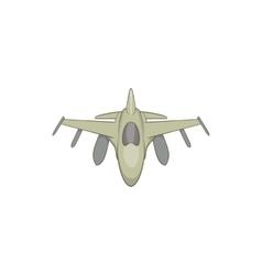 Military aircraft icon cartoon style vector