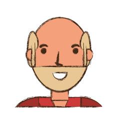 Old man cartoon vector