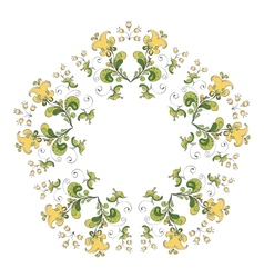 Ornate round lace pattern vector