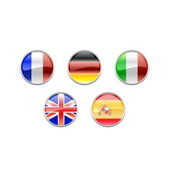 set with the flags vector image vector image