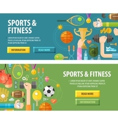 sport logo design template fitness or vector image vector image