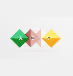 Square geometric abstract background vector