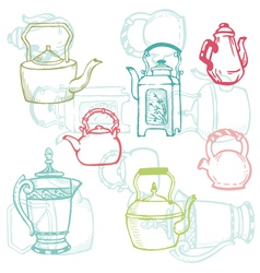teapot doodles vector image vector image