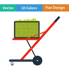 Tennis cart ball icon vector image