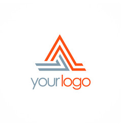 triangle line letter a logo vector image vector image