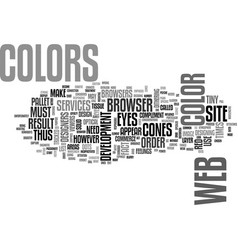 Web site design color for you text word cloud vector