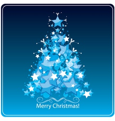Christmas tree greetings card vector