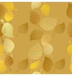 Seamless pattern with abstract leaves Autumn leaf vector image