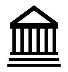 Museum building icon simple style vector