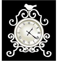 Old clock vector image
