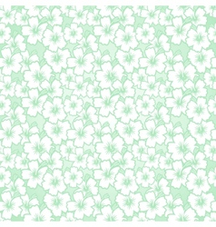 Floral seamless hibiscus pattern vector image