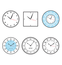 Clock clock icon set vector