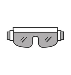 cute grey snowboard protective glasses vector image