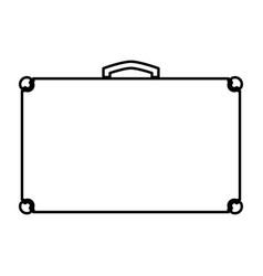 suitcase black color icon vector image
