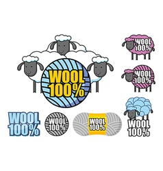Emblem of wool sheep vector