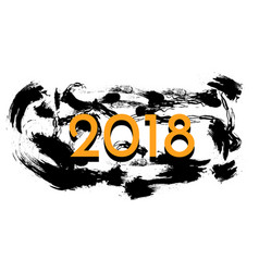 2018 happy new year background merry vector image