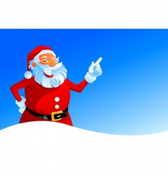 Happy santa on winter background vector