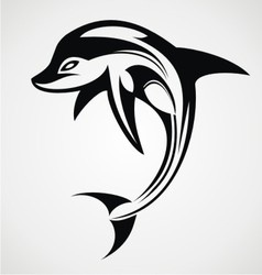 Dolphin Tattoo Design vector image