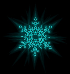 Self-illuminated snowflake vector