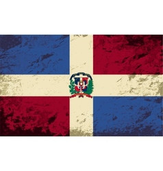 Dominican republic flag grunge background vector