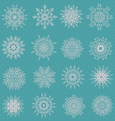 Snowflake set for winter design vector