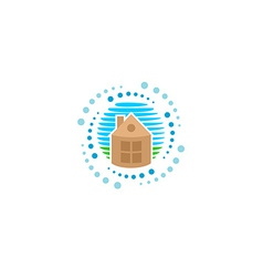 House cleaning logo vector image