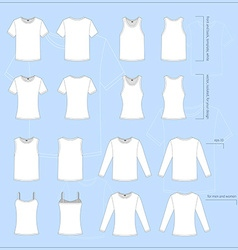 Set of clothing icons vector