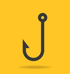 Icon of fishing hook vector